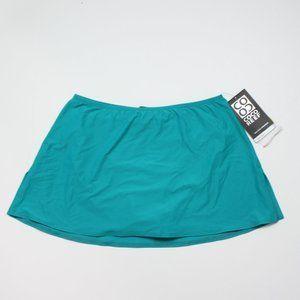 Coco Reef Teal Swim Skirt Sz M